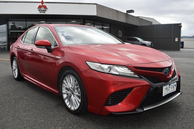 Used Toyota Camry AXVH71R SL Wantirna South, 2018 Toyota Camry AXVH71R SL Red/Black 6 Speed Constant Variable Sedan Hybrid