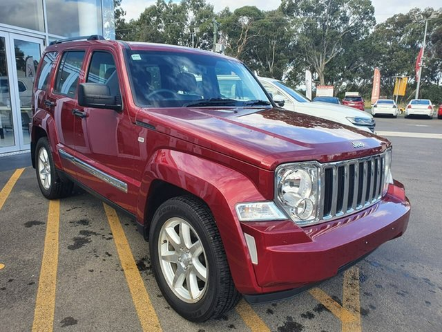 Used Jeep Cherokee KK MY12 Limited 4x2 Epsom, 2012 Jeep Cherokee KK MY12 Limited 4x2 Maroon 4 Speed Automatic Wagon