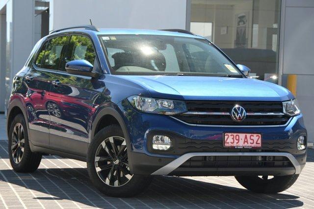Demo Volkswagen T-Cross C1 MY21 85TSI DSG FWD Life Newstead, 2020 Volkswagen T-Cross C1 MY21 85TSI DSG FWD Life Reef Blue Metallic 7 Speed