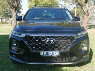 2018 Hyundai Santa Fe DM5 MY18 Highlander CRDi (4x4) Black 6 Speed Automatic Wagon.
