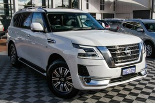 2020 Nissan Patrol Y62 Series 5 MY20 TI-L White 7 Speed Sports Automatic Wagon.
