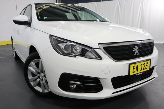 Used Peugeot 308 T9 MY18 Active Castle Hill, 2018 Peugeot 308 T9 MY18 Active White 6 Speed Sports Automatic Hatchback