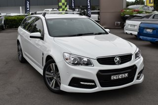 2015 Holden Commodore VF MY15 SV6 Sportwagon White 6 Speed Sports Automatic Wagon.