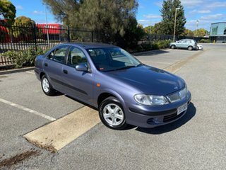 2003 Nissan Pulsar N16 S2 ST-L Blue 4 Speed Automatic Sedan.