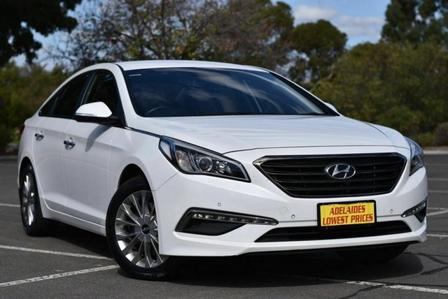 Used Hyundai Sonata LF MY16 Elite Enfield, 2016 Hyundai Sonata LF MY16 Elite White 6 Speed Sports Automatic Sedan
