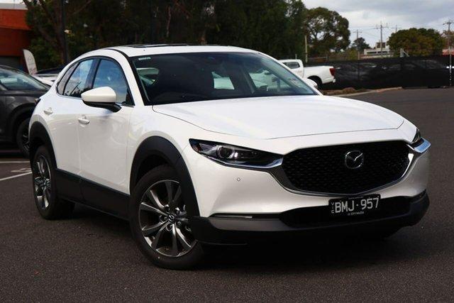 Demo Mazda CX-30 DM4WLA G25 SKYACTIV-Drive i-ACTIV AWD Astina South Melbourne, 2020 Mazda CX-30 DM4WLA G25 SKYACTIV-Drive i-ACTIV AWD Astina Snowflake White 6 Speed