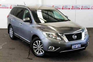 2016 Nissan Pathfinder R52 MY15 ST-L (4x4) Grey Continuous Variable Wagon.