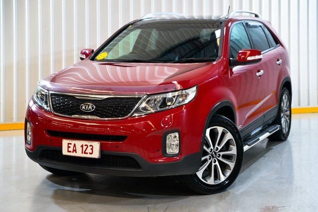 Used Kia Sorento XM MY14 Platinum 4WD Hendra, 2014 Kia Sorento XM MY14 Platinum 4WD Red/Black 6 Speed Sports Automatic Wagon