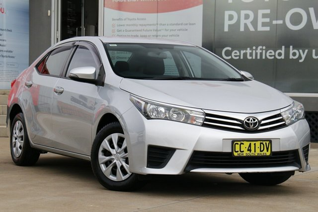 Pre-Owned Toyota Corolla ZRE172R Ascent S-CVT Guildford, 2014 Toyota Corolla ZRE172R Ascent S-CVT Silver Ash 7 Speed Constant Variable Sedan