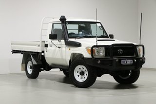 2012 Toyota Landcruiser VDJ79R 09 Upgrade Workmate (4x4) White 5 Speed Manual Cab Chassis.