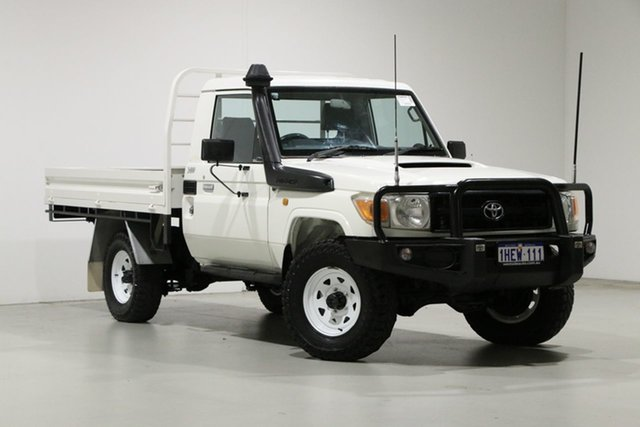 Used Toyota Landcruiser VDJ79R 09 Upgrade Workmate (4x4) Bentley, 2012 Toyota Landcruiser VDJ79R 09 Upgrade Workmate (4x4) White 5 Speed Manual Cab Chassis