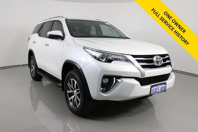 Used Toyota Fortuner GUN156R Crusade Bentley, 2017 Toyota Fortuner GUN156R Crusade Crystal Pearl 6 Speed Automatic Wagon