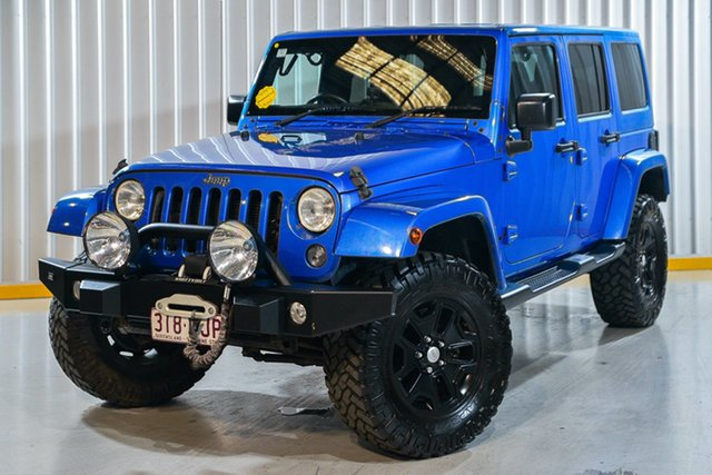 Used Jeep Wrangler JK MY2015 Unlimited Overland Hendra, 2015 Jeep Wrangler JK MY2015 Unlimited Overland Blue 5 Speed Automatic Hardtop