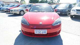 2007 Hyundai Tiburon GK MY07 V6 Red 4 Speed Sports Automatic Coupe.