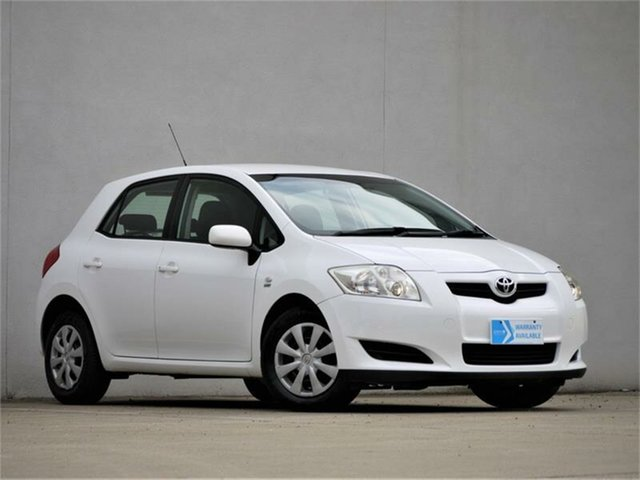 Used Toyota Corolla ZRE152R Ascent Cheltenham, 2009 Toyota Corolla ZRE152R Ascent White 6 Speed Manual Sedan