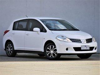 2011 Nissan Tiida C11 S3 ST White Automatic Hatchback.