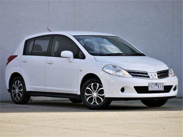 Used Nissan Tiida C11 S3 ST Cheltenham, 2011 Nissan Tiida C11 S3 ST White Automatic Hatchback