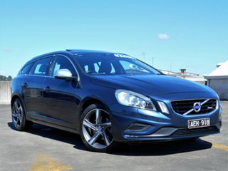 2012 Volvo V60 F Series MY13 T5 PwrShift Blue 6 Speed Sports Automatic Dual Clutch Wagon.