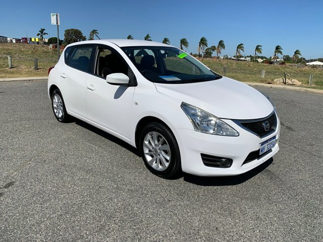 Used Nissan Pulsar C12 Series 2 ST Wangara, 2016 Nissan Pulsar C12 Series 2 ST White Continuous Variable Hatchback