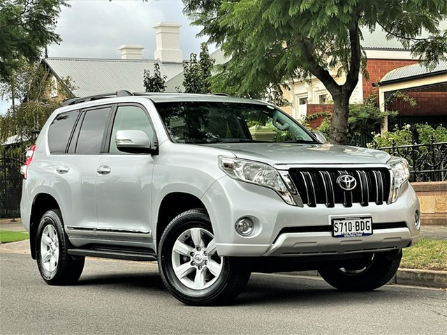 Used Toyota Landcruiser Prado KDJ150R MY14 Altitude Hyde Park, 2014 Toyota Landcruiser Prado KDJ150R MY14 Altitude Silver 5 Speed Sports Automatic Wagon