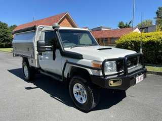 2008 Toyota Landcruiser VDJ79R Workmate White 5 Speed Manual Utility.