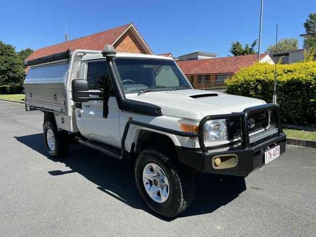 Used Toyota Landcruiser VDJ79R Workmate Chermside, 2008 Toyota Landcruiser VDJ79R Workmate White 5 Speed Manual Utility