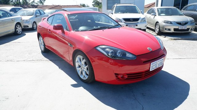 Used Hyundai Tiburon GK MY07 V6 St James, 2007 Hyundai Tiburon GK MY07 V6 Red 4 Speed Sports Automatic Coupe