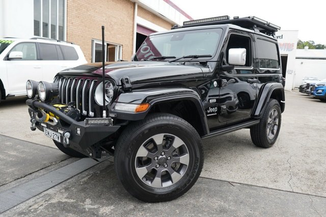Used Jeep Wrangler JL MY20 Overland Narrabeen, 2019 Jeep Wrangler JL MY20 Overland Black 8 Speed Automatic Hardtop
