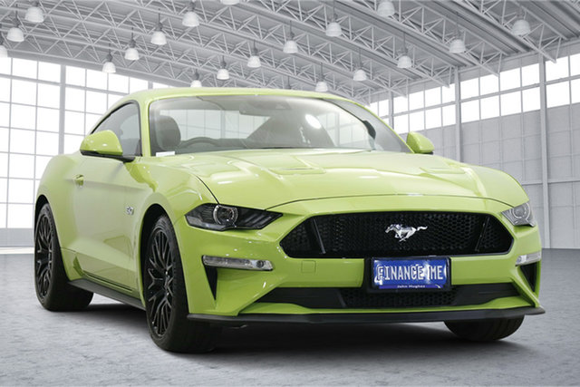 Used Ford Mustang FN 2020MY GT Victoria Park, 2020 Ford Mustang FN 2020MY GT Grabber Lime 10 Speed Sports Automatic Fastback
