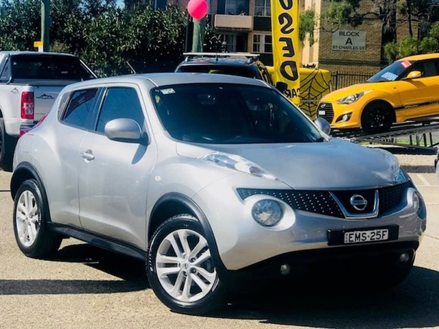 Used Nissan Juke F15 MY14 ST 2WD Liverpool, 2014 Nissan Juke F15 MY14 ST 2WD Silver, Chrome 1 Speed Constant Variable Hatchback