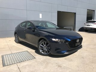 2021 Mazda 3 BP2H7A G20 SKYACTIV-Drive Evolve Deep Crystal Blue 6 Speed Sports Automatic Hatchback.