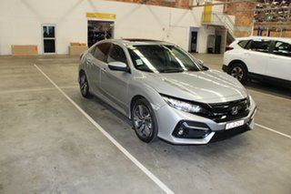 2020 Honda Civic 10th Gen MY20 VTi-LX Lunar Silver 1 Speed Constant Variable Hatchback.