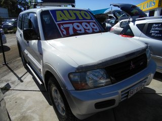 2002 Mitsubishi Pajero NM MY2002 GLS White 5 Speed Sports Automatic Wagon.