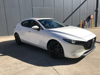 2021 Mazda 3 BP2HLA G25 SKYACTIV-Drive Astina Snowflake White 6 Speed Sports Automatic Hatchback.