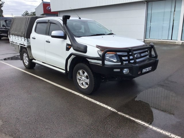 Pre-Owned Ford Ranger PX XLS Double Cab Cardiff, 2015 Ford Ranger PX XLS Double Cab White 6 Speed Sports Automatic Utility