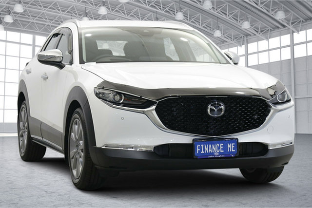Used Mazda CX-30 DM2W7A G20 SKYACTIV-Drive Touring Victoria Park, 2020 Mazda CX-30 DM2W7A G20 SKYACTIV-Drive Touring Pearl White 6 Speed Sports Automatic Wagon