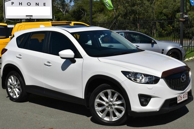 Used Mazda CX-5 MY13 Grand Tourer (4x4) Underwood, 2013 Mazda CX-5 MY13 Grand Tourer (4x4) White 6 Speed Automatic Wagon