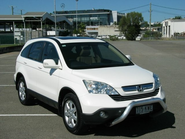 Used Honda CR-V RE MY2007 Luxury Albion, 2008 Honda CR-V RE MY2007 Luxury White 5 Speed Automatic Wagon