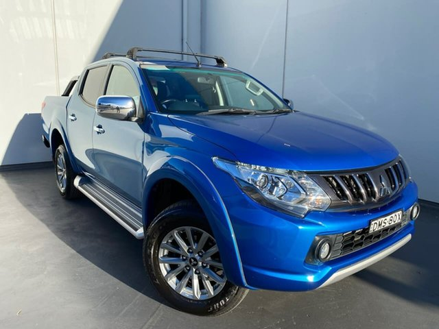 Used Mitsubishi Triton MQ MY17 GLS Double Cab Liverpool, 2017 Mitsubishi Triton MQ MY17 GLS Double Cab Blue 5 Speed Sports Automatic Utility