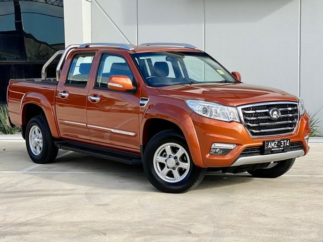 Used Great Wall Steed NBP Templestowe, 2018 Great Wall Steed NBP Orange 6 Speed Manual Utility