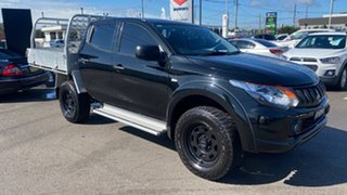 2017 Mitsubishi Triton MQ MY17 GLX+ Double Cab Black 6 Speed Manual Utility.