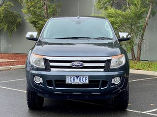 2014 Ford Ranger PX XLT Double Cab 4x2 Hi-Rider Grey 6 Speed Sports Automatic Utility.