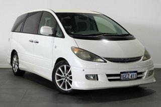 2001 Toyota Estima Aeras White 4 Speed Automatic Wagon.