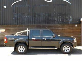 2008 Ford Ranger PJ XLT Crew Cab Black 5 Speed Manual Utility.