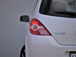 2011 Nissan Tiida C11 S3 ST White Automatic Hatchback
