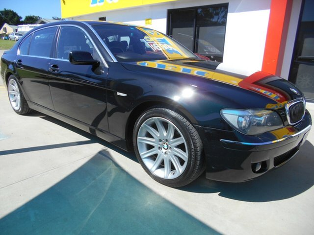Used BMW 7 Series E66 740Li Steptronic Springwood, 2006 BMW 7 Series E66 740Li Steptronic Black 6 Speed Sports Automatic Sedan
