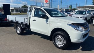 2015 Mitsubishi Triton MQ MY16 GLX 4x2 White 6 Speed Manual Cab Chassis