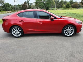 2015 Mazda 3 BM Series SP25 Astina Red Sports Automatic Sedan.