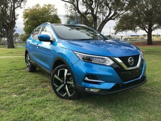 2020 Nissan Qashqai MY20 TI Blue Continuous Variable Wagon.