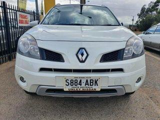 2009 Renault Koleos H45 Dynamique White 1 Speed Constant Variable Wagon.